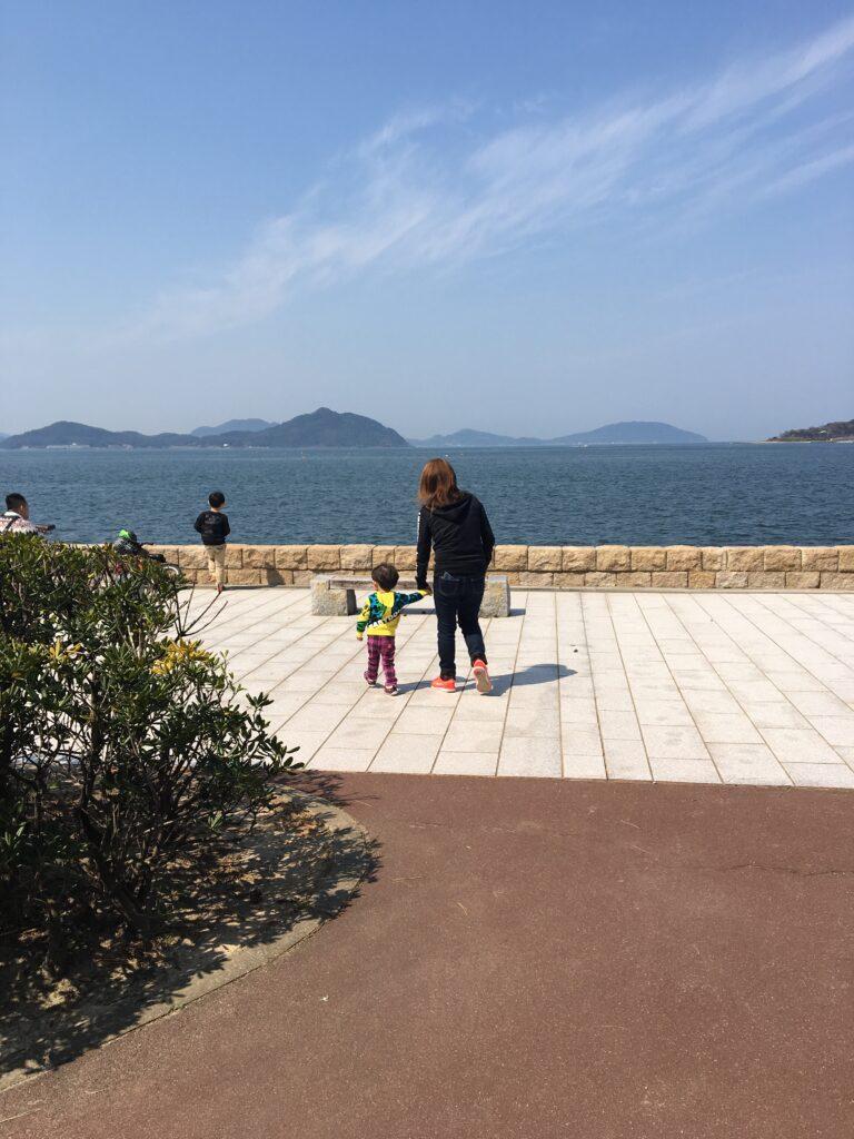 小戸公園の海が見える画像