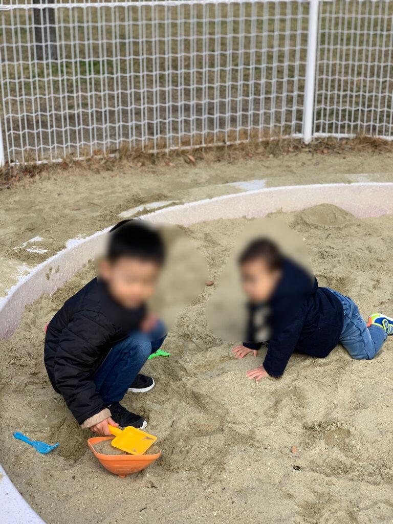 姪浜中央公園の砂場の画像